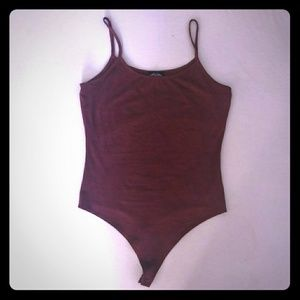 Thong Burgundy bodysuit